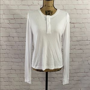 Vince White Button Long Sleeve